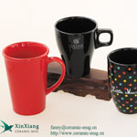 Black Square Color Glazed Ceramic Cups