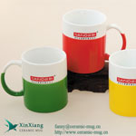 Half Color Glazed Ceramic Coffee Mugs