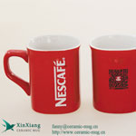 Red Square Ceramic Coffee Mugs