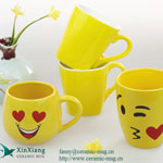 Yellow Expression Ceramic Coffee Mugs