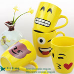 Yellow Expression Ceramic Coffee Mugs 2