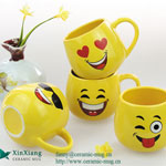 Yellow Expression Soup Ceramic Mugs