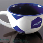 Football Cup Glazed Soup Ceramic Mugs