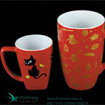 Glazed Ceramic Coffee Mugs with Printing 2