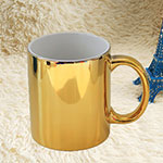 Golden Ceramic Mug