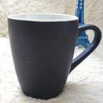 12oz Black Matt Ceramic Mugs
