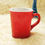 Red Square Ceramic Mugs