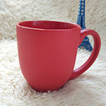 Red Matt Stoneware Mugs