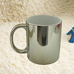 Silver Coating Ceramic Mugs