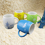 Waist-Drum Shape Ceramic Mugs